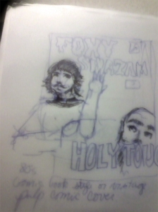 Early Foxy Shazam comic idea